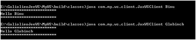 run jax-ws client